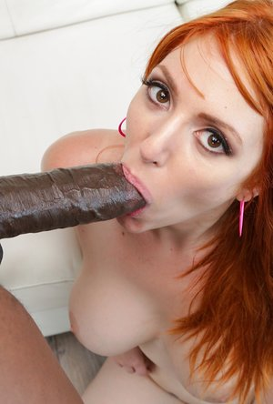 Busty Redhead's Rack Sperm-Slopped